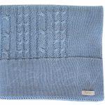 Manta de bebê em tricot trança