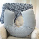 Almofada amamentação de menino em tricot